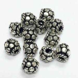 Sterling Silver Bali Style Beads-5mm - 9216