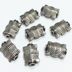 Sterling Silver Bali Style Beads-13 x 9mm