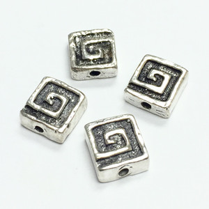 Sterling Silver 7mm Square Beads