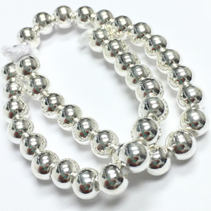 Sterling Silver Seamless Round Bead-6mm
