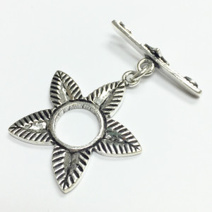 Sterling Silver Petal Perfect Toggle Clasp