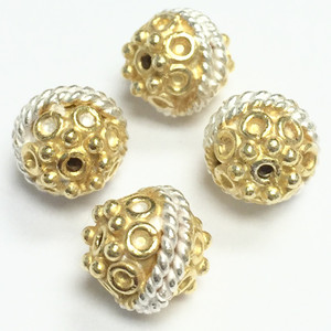 Bright Sterling Silver & Vermeil 8mm