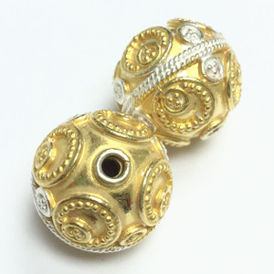 7316 Vermeil and White Silver Beads