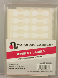 Clamshell Jewelry Labels - Large Dumbbell