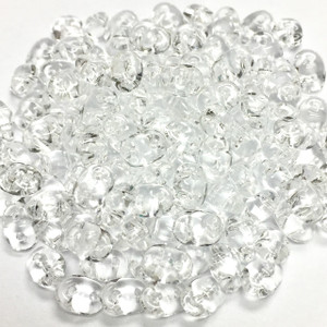 SuperDuo 2 x 5mm 2 hole beads - Crystal