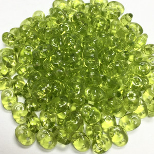 SuperDuo 2 x 5mm 2 hole beads - Olivine