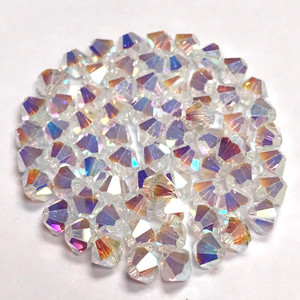 5301 or 5328 Swarovski Crystal AB x 2 - 4mm