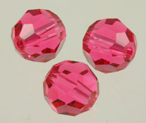 Swarovski Crystalized Beads Art #5000 Indian Pink 8mm