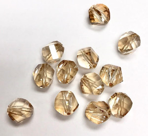 5020 Swarovski Golden Shadow Crystal--8mm Helix
