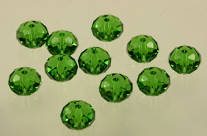 Swarovski Crystal Beads Art # 5040-Fern Green-8mm