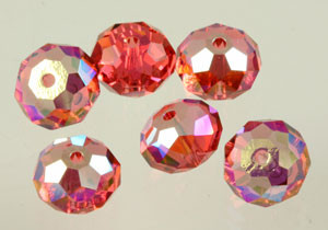 Swarovski Crystalized Beads Art # 5040-Padparadscha AB-8mm