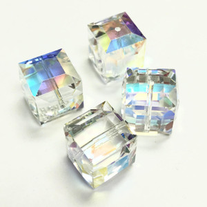 Swarovski Crystal AB Cube Beads 12mm
