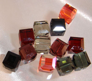 Swarovski Earring Mix-- Pairs Mix #2- 8mm cubes