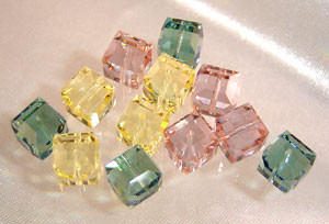 Swarovski Earring Mix-- The Pastels- 8mm cubes