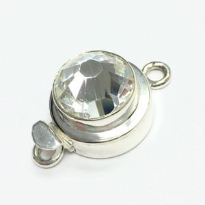 Large Swarovski Crystal Round Clasp