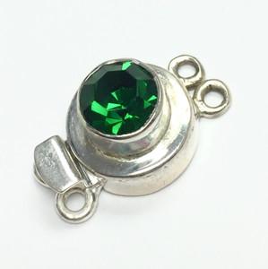 Vintage Swarovski Rare Green Tourmaline Crystal Clasp
