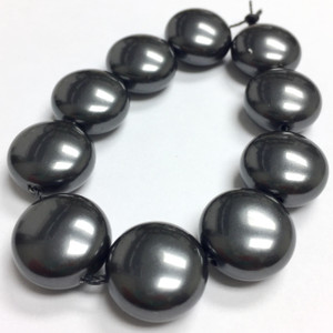 Swarovski Crystal Coin Pearls Article #5860 Black-14mm