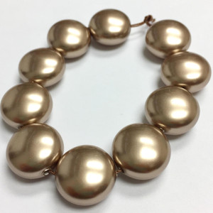Swarovski Crystal Coin Pearls Article #5860 Bronze-14mm