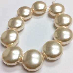 Swarovski Crystal Coin Pearls Article #5860 Cream-14mm