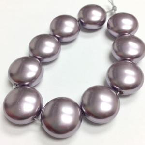 Swarovski Crystal Coin Pearls Article #5860 Mauve-14mm