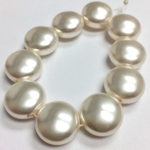 Swarovski Crystal Coin Pearls Article #5860 White-14mm