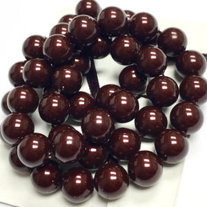 Swarovski Crystal Pearls Article #5810 Maroon-8mm