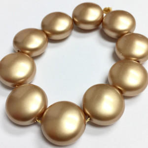 Swarovski Crystal Coin Pearls Article #5860 Vintage Gold-14mm