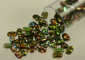 Twin Two-Holed Seed Beads - Magic Flame