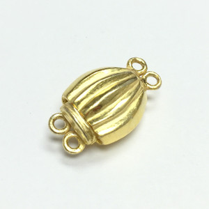 Vermeil 2 lined box clasp