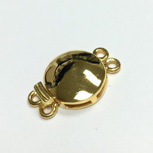 Vermeil Double Domed Box Clasp with Filigree bottom