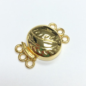 Vermeil Filled Oval Triple Strand Box Clasp-16 x 13m