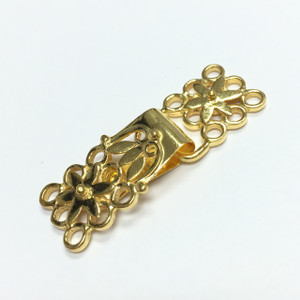 Triple Strand Vermeil Lovely Lacey Hook Style Clasp