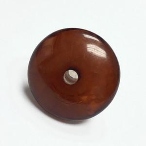 Vintage Bakelite Rondell Beads - Rootbeer-26 x 12mm
