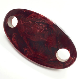 Vintage YSL Bakelite Marbled Rosewood 2 hole Oval Connector Bead