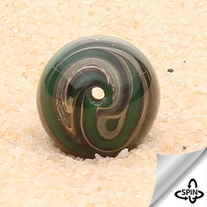 Very Old & Rare - Coro Emerald Swirl Beads-12mm - 26434