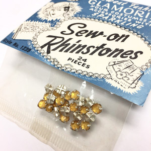 Vintage Topaz Montees in Original Packaging-5mm