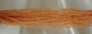 Vintage Hex Seed Bead Hank - Not Too Peach-Closeout Blowout!