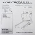 Treadmill User's Manual 203634