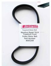 Nautilus Treadmill Model T614 Front Pulley Motor Belt Part Number 8005208