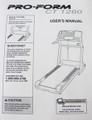 Pro Form Treadmill Model PFTL14920  User's Manual