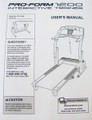 Treadmill User's Manual Part Number 204760