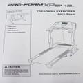 Pro Form Treadmill Users Manual XP542E