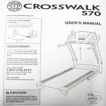 Golds Gym Treadmill Users Manual CROSSWALK 570