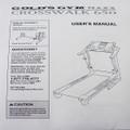 Gold's Gym Treadmill MAXX 650 User's Manual 258951