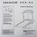 IMAGE Treadmill 10.0 User's Manual 185951
