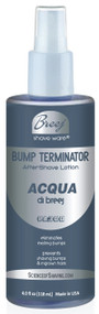 BUMP TERMINATOR ACQUA DI BREEJ PA300 Anti Bump Aftershave Is formulated with A Subtle Aromatic, Mediterranean Type Fragrance. Top Note Produces A Sense Of Well-Being And Leisure followed by A Tender Floral, Spicy Middle Note in an anti bump formula based on very effective natural healing oils and extracts plus glycolic acid, salicylic acid and alpha bisabolol. This advanced formulation Soothes and Conditions Shaved Skin leaving the Skin Bump free and fragranced. Recommended For Day time and Subdued Night time Wear.
