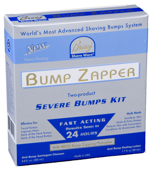 BUMP ZAPPER SEVERE BUMPS KIT This 2-product Severe Bumps Kit for facial bumps and ingrown hairs provides immediate results seen within 24 hours.