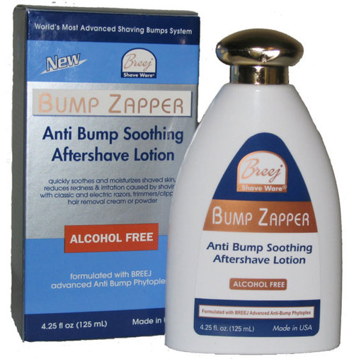 BUMP ZAPPER Anti Bump Soothing Aftershave Lotion. Fast Acting Multi-active Alcohol FREE Soothing Aftershave Lotion Apply to skin after shaving or hair removal with a depilatory Suitable for Men and Women.
