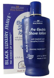This emollient rich lotion prepares the skin for a close easy shave with a cordless razor leaving your skin soft, smooth and free of razor bumps.