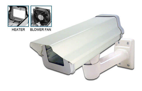 Indoor/Outdoor Security Camera Housing with Heater/Blower and Bracket